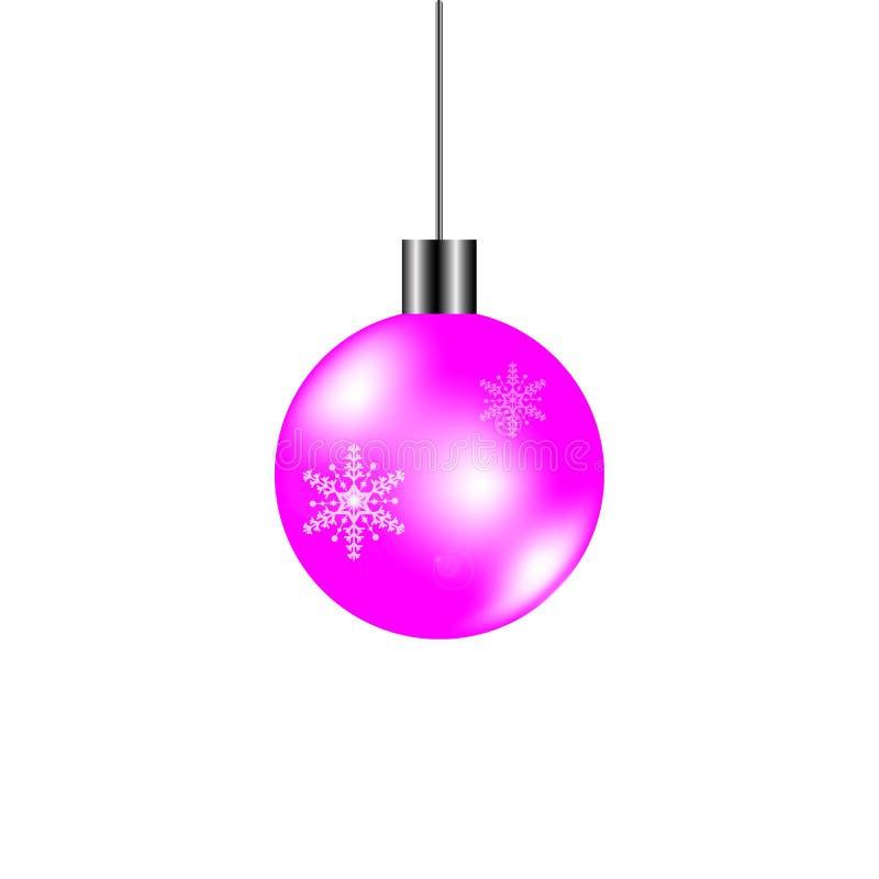 Bola de la Navidad con el copo de nieve imagen de archivo