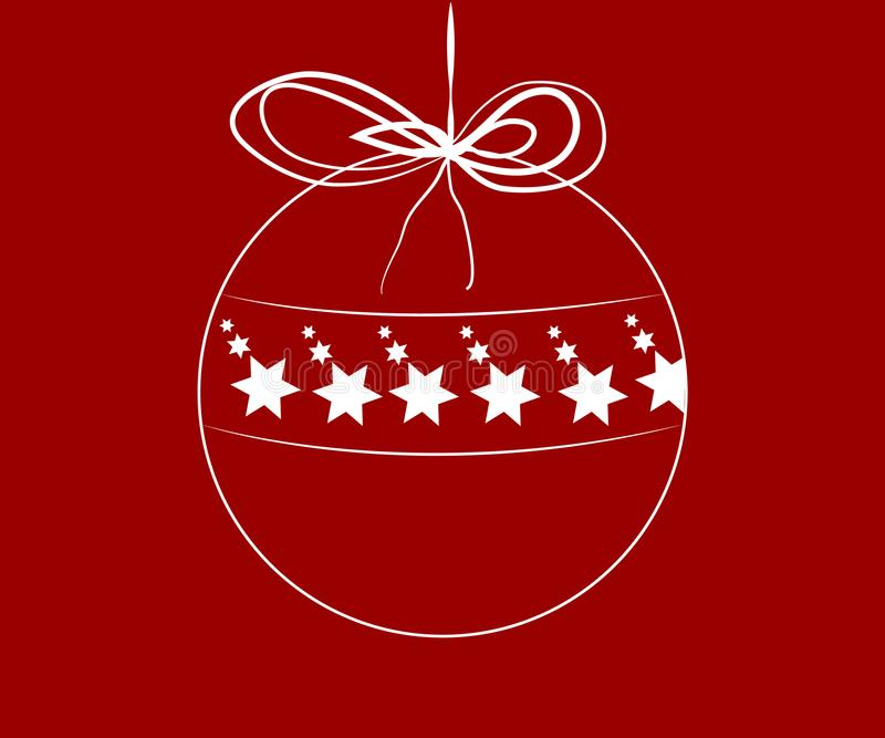 Bola de la Navidad con las estrellas dentro ilustración del vector