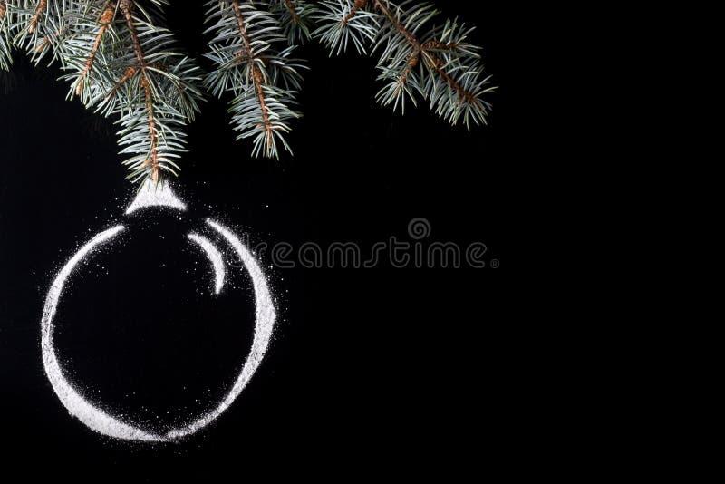 Bola de la Navidad de la nieve fotografía de archivo libre de regalías