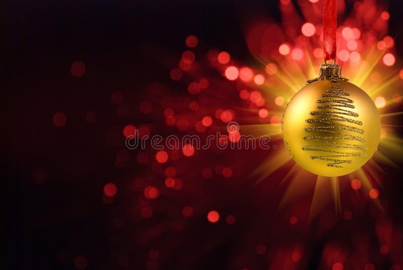 Bola de la Navidad de Yello stock de ilustración