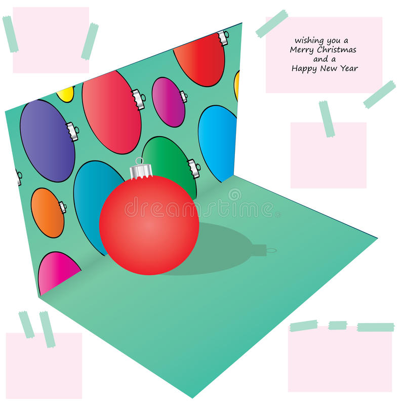bola de la Navidad del ejemplo 3d libre illustration
