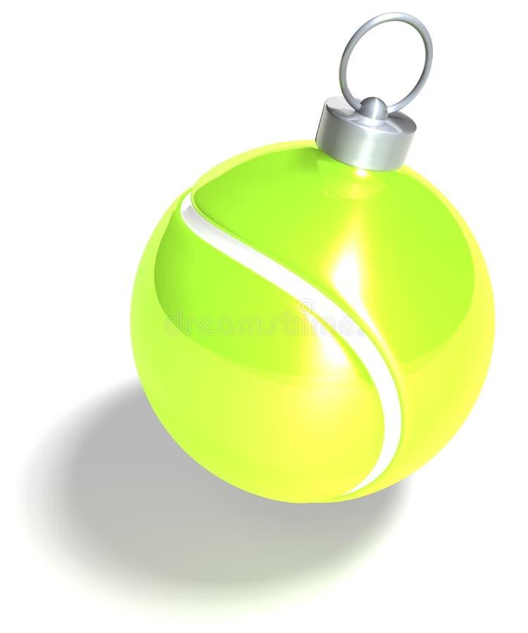 Bola de la Navidad del tenis stock de ilustración