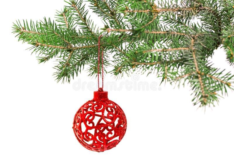Bola de la Navidad en el árbol fotografía de archivo