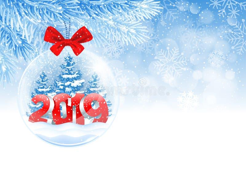 Bola de la Navidad y del Año Nuevo stock de ilustración