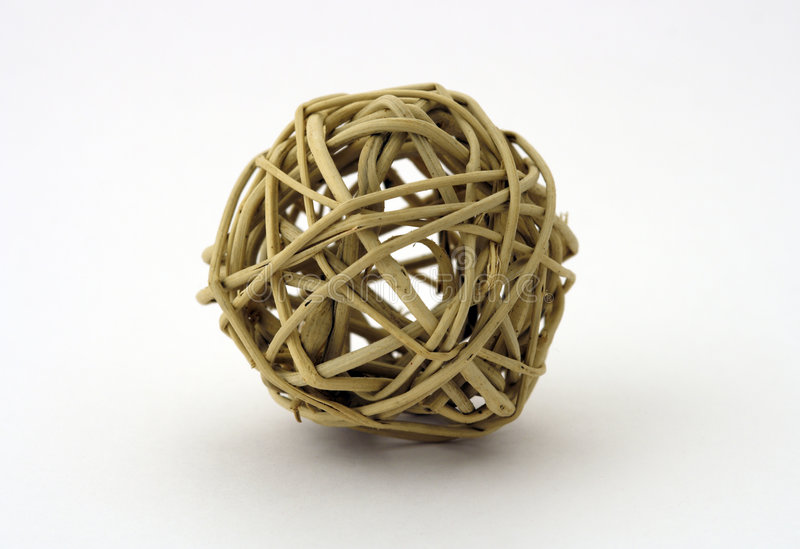 Bola de la paja foto de archivo
