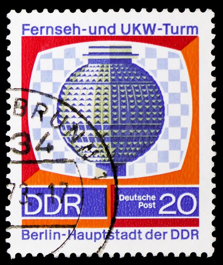 Bola de la torre de la televisión, TV-torre, serie de Berlín, circa 1969 foto de archivo