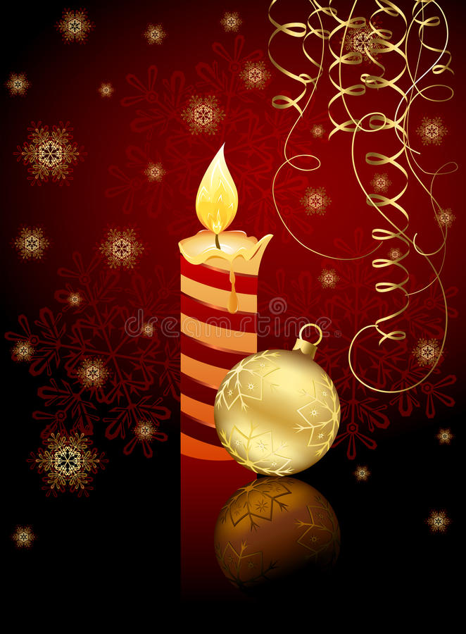 Bola de la vela y de la Navidad libre illustration