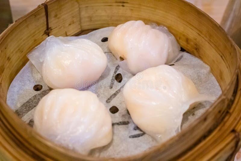 Bola de masa hervida Cantonese tradicional del camarón fotografía de archivo libre de regalías
