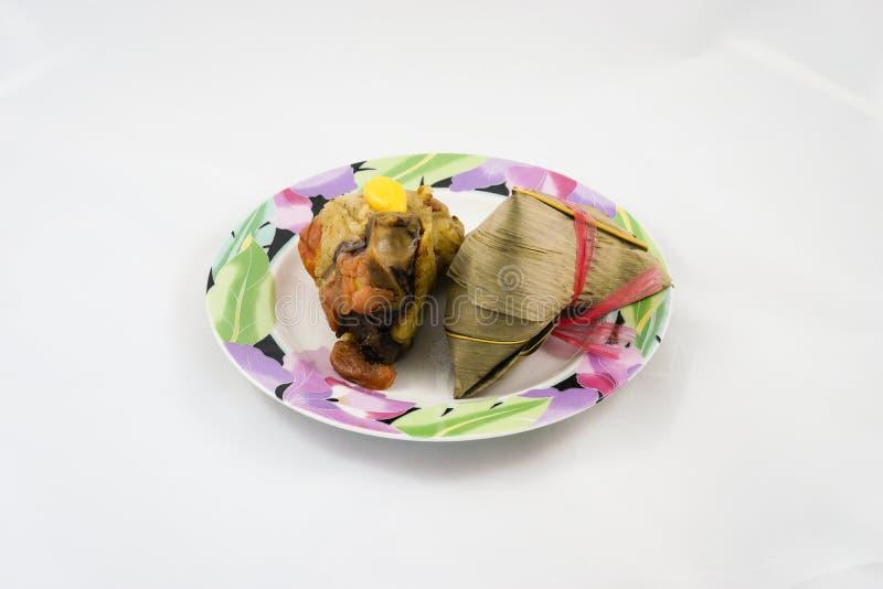 Bola de masa hervida china del arroz (Zongzi) imágenes de archivo libres de regalías