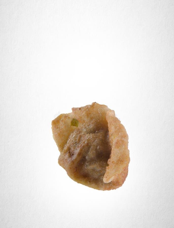 Bola de masa hervida o Pan Fried Dumpling en un fondo fotografía de archivo