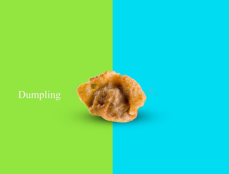 Bola de masa hervida o Pan Fried Dumpling en un fondo imagen de archivo libre de regalías