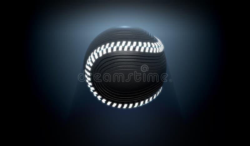 Bola de neón futurista de los deportes stock de ilustración