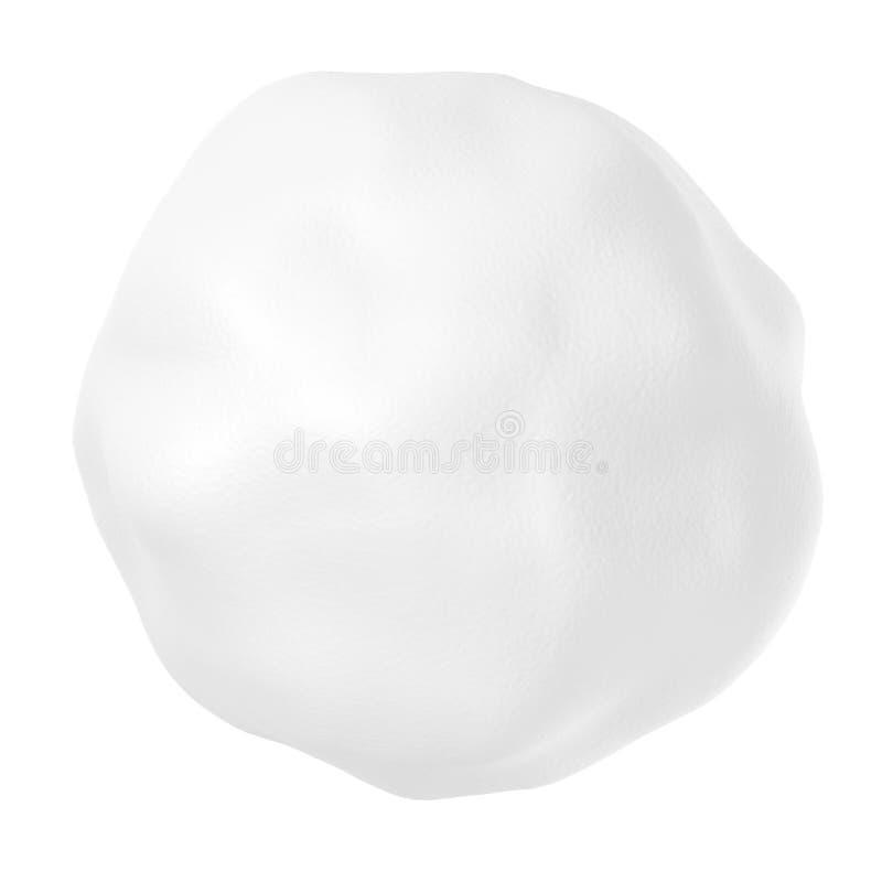Bola de neve com isolado no branco fotos de stock