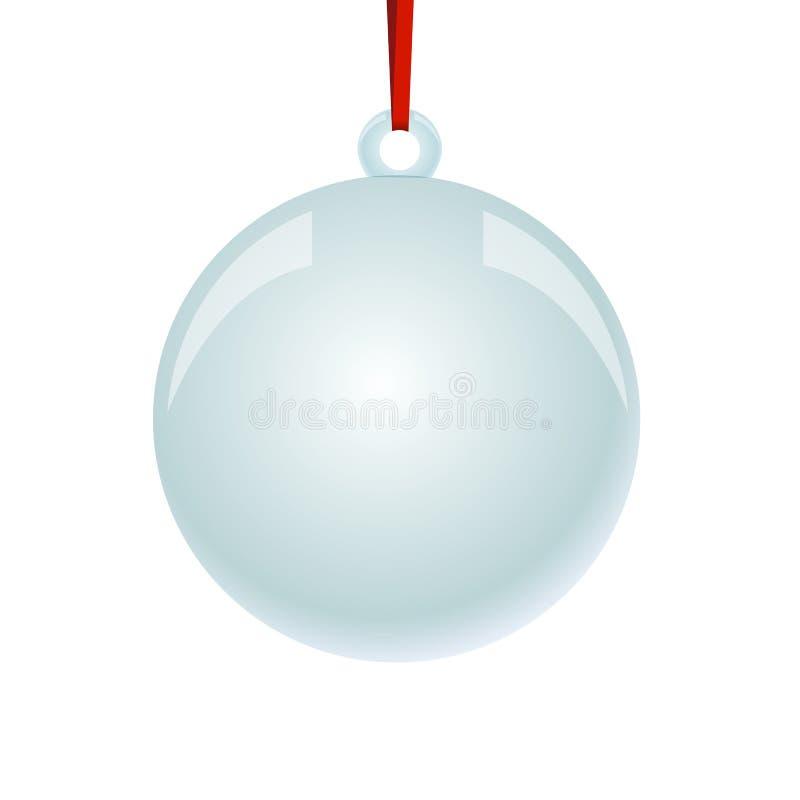 Bola de NewYear do Natal com suspensão da fita ilustração royalty free