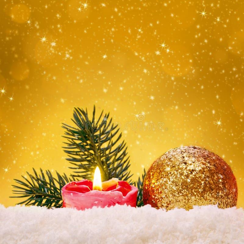 Bola de oro de la Navidad libre illustration