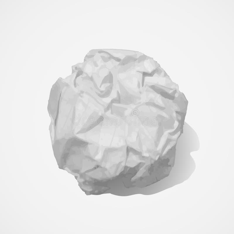 Bola de papel ilustración del vector