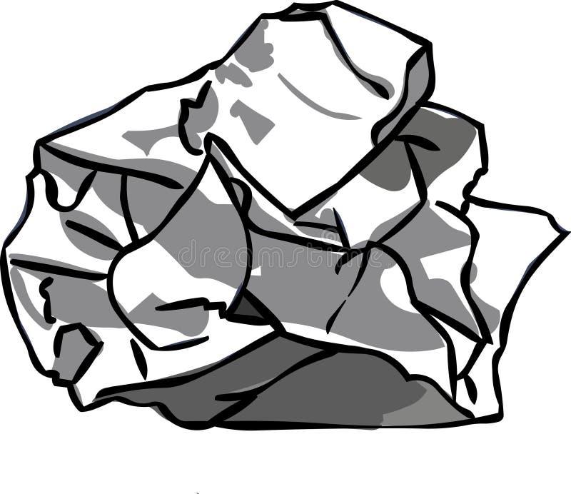 Bola de papel stock de ilustración