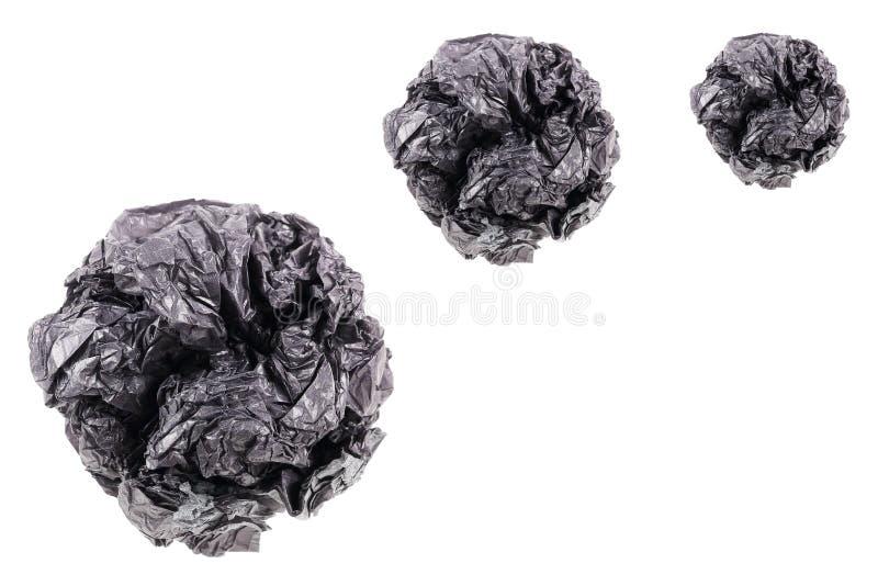 bola de papel amarrotada de jogo isolada no branco imagem de stock