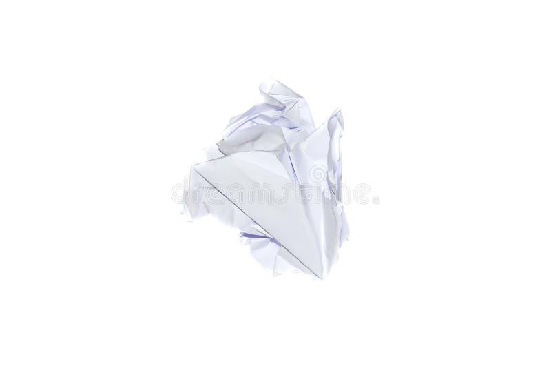 Bola de papel arrugada foto de archivo