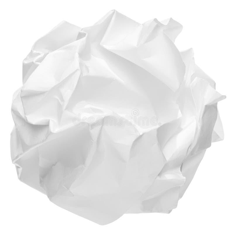 Bola de papel arrugada imágenes de archivo libres de regalías
