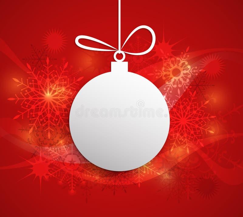 Bola de papel do Natal com espaço para o cartão do texto-Natal ilustração royalty free