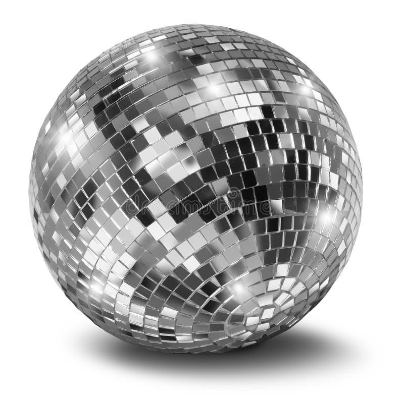 Bola de plata del espejo del disco imágenes de archivo libres de regalías