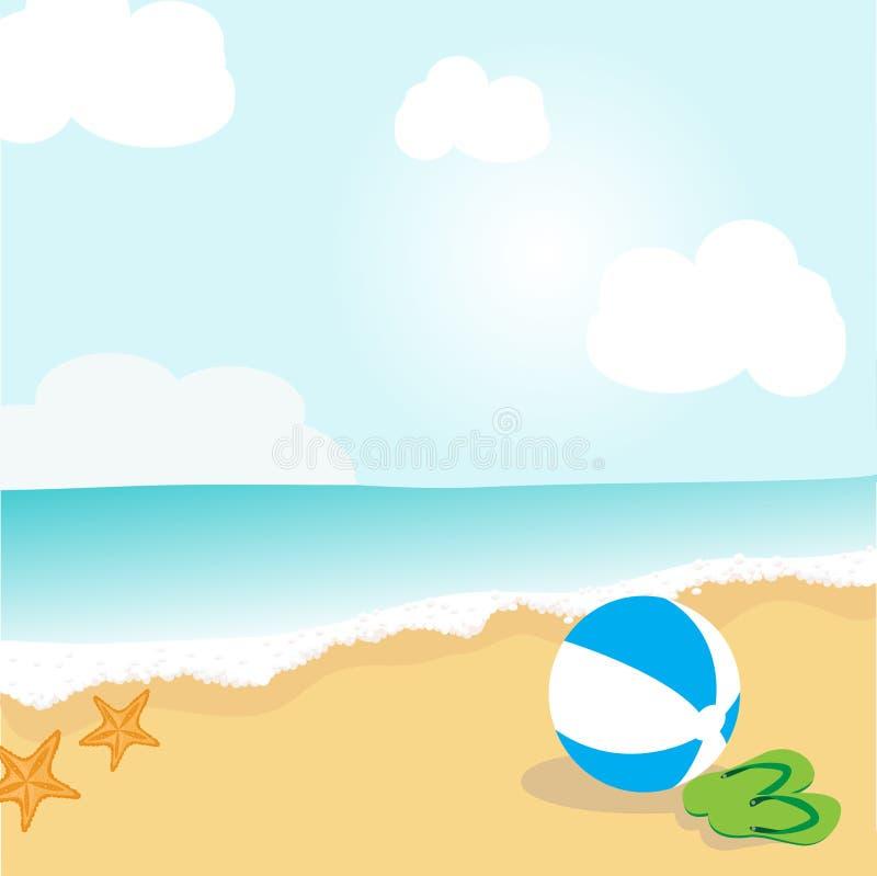Bola de playa. stock de ilustración