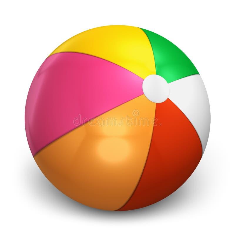 Bola de playa del color ilustración del vector