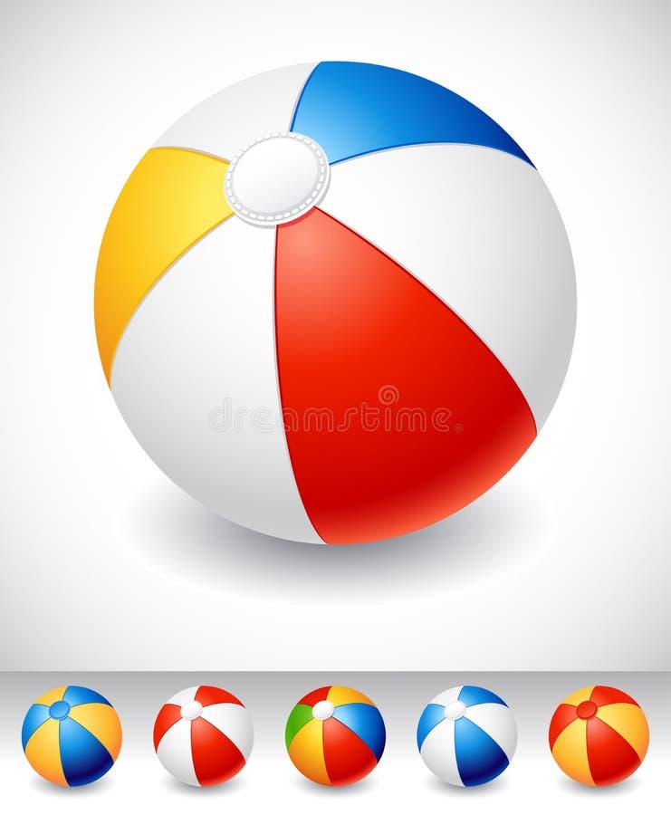 Bola de praia ilustração royalty free