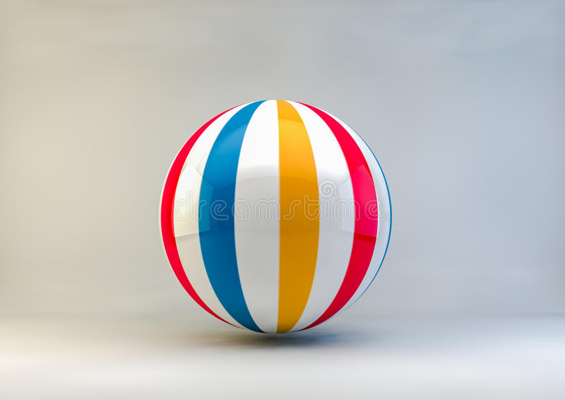 Bola de praia foto de stock royalty free