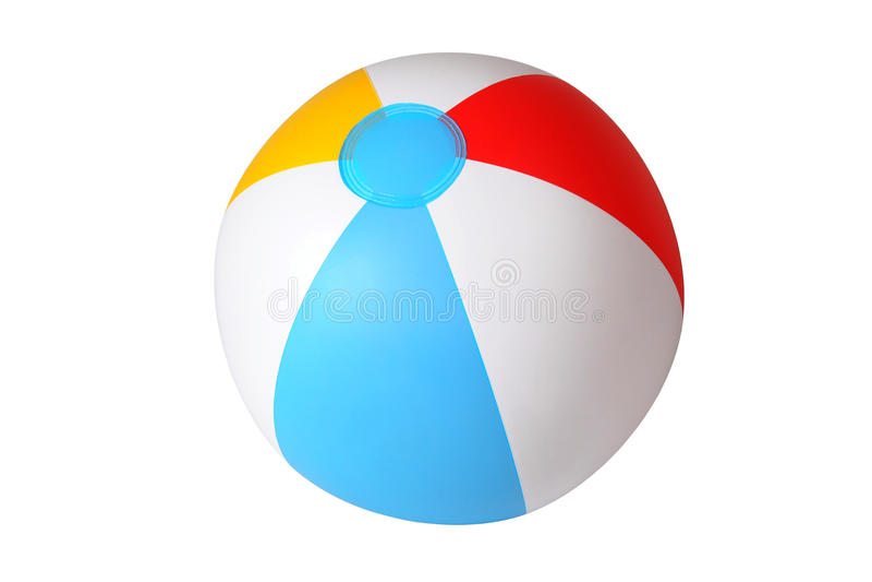 Bola de praia isolada foto de stock