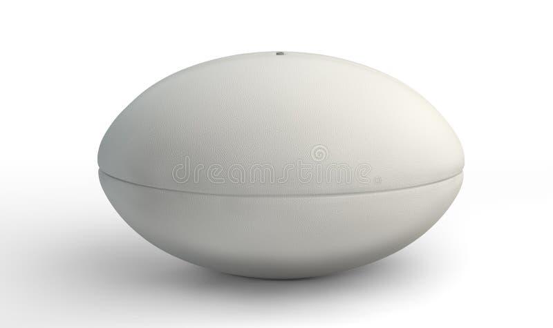 Bola de rugby no branco imagem de stock royalty free