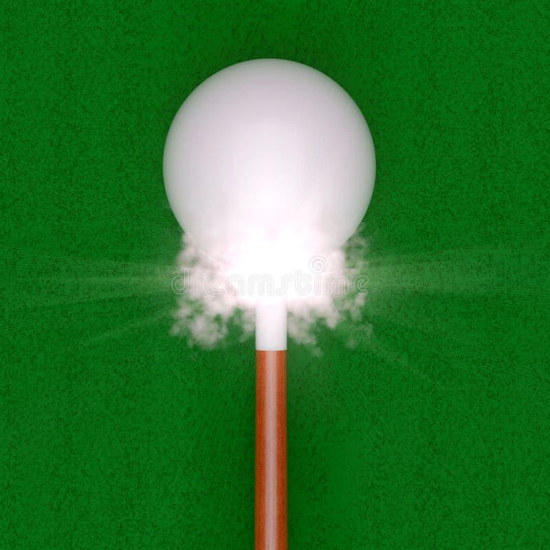 Bola de señal y señal - impacto libre illustration