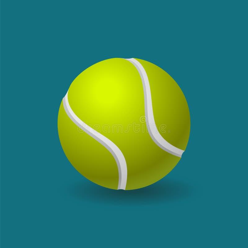 Bola de tênis ilustração do vetor