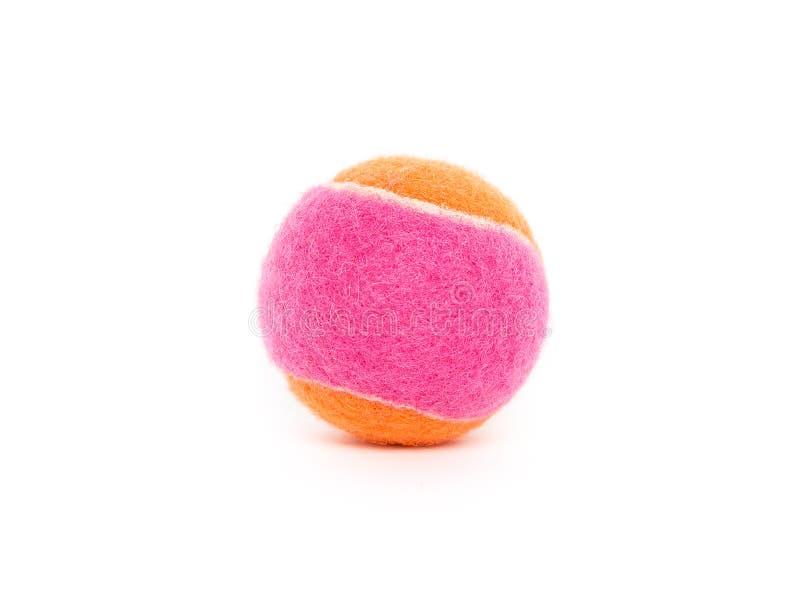 Bola de tênis cor-de-rosa e alaranjada imagem de stock royalty free