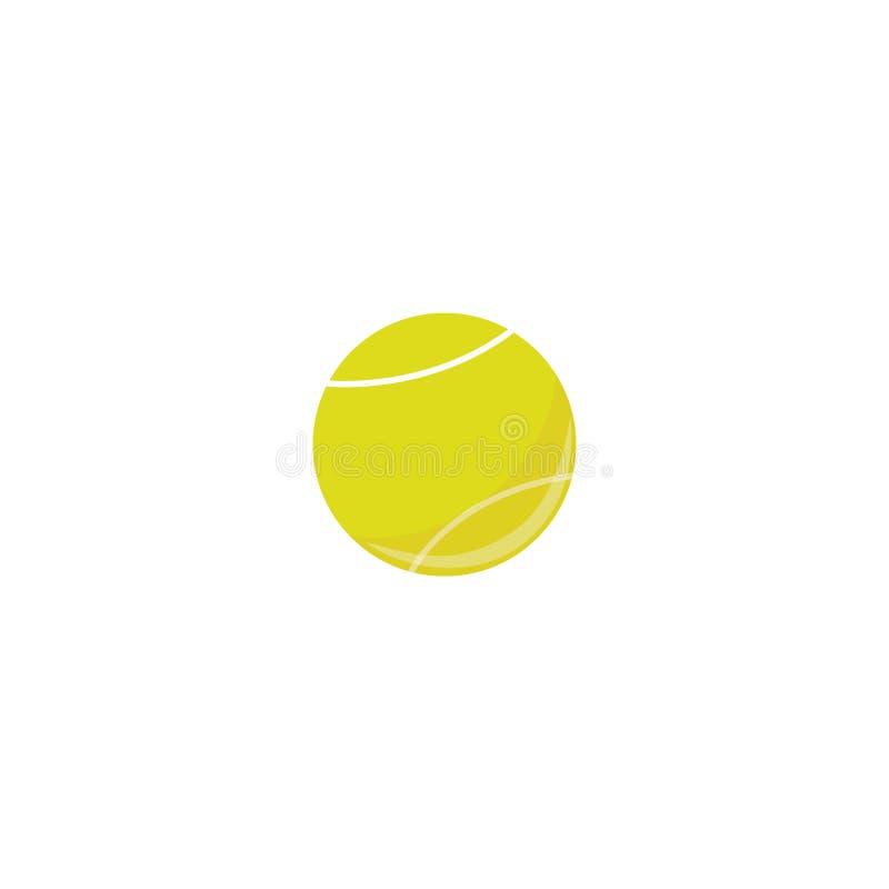 Bola de tênis do vetor, ícone simples do equipamento de esporte ilustração do vetor