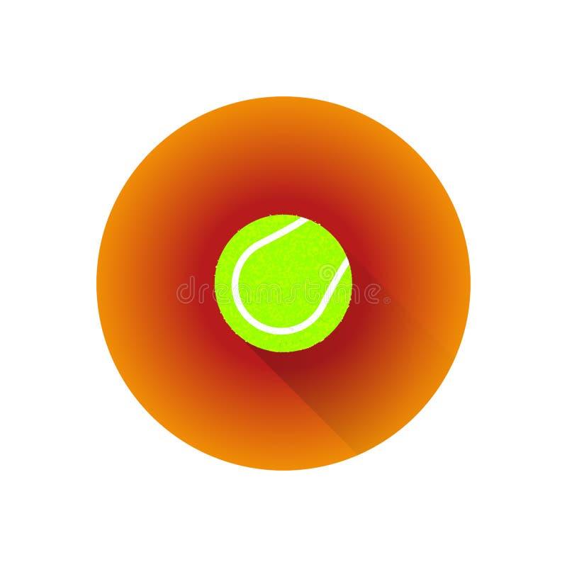 Bola de tênis lisa da cor do vetor ilustração stock