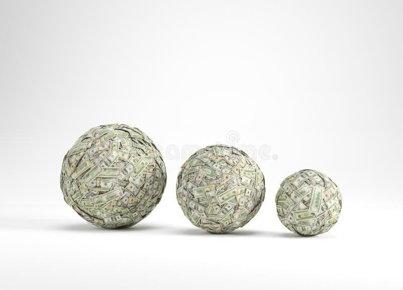 Bola de três dinheiros fotografia de stock