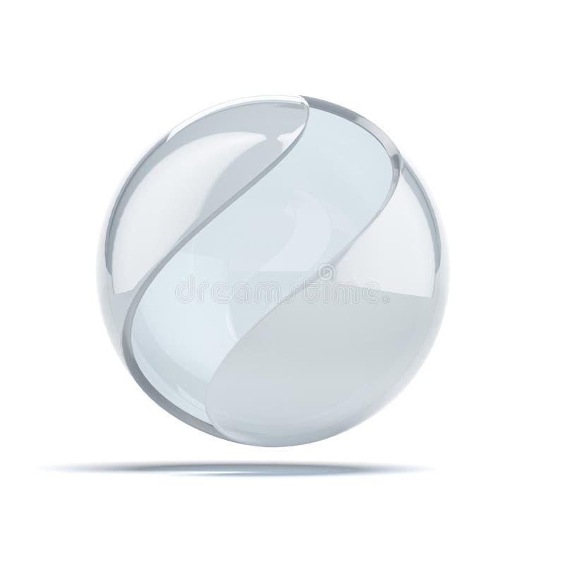 Bola de vidro abstrata ilustração stock