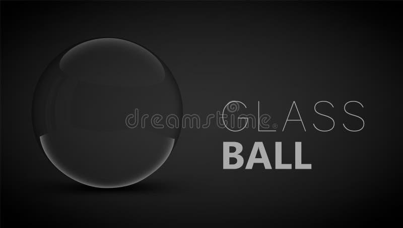 bola de vidro no fundo escuro ilustração royalty free