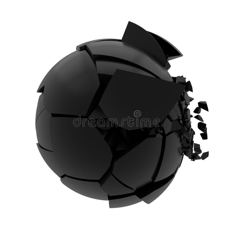 Bola de vidro quebrada ilustração stock