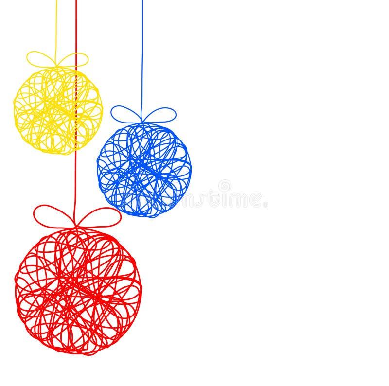 Bola decorativa da cor do Natal como o cartão, vetor conservado em estoque mim ilustração stock