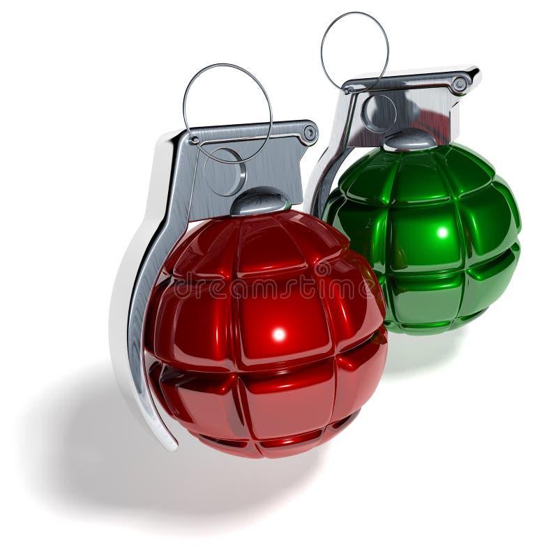 Bola del árbol de navidad de la granada de mano libre illustration