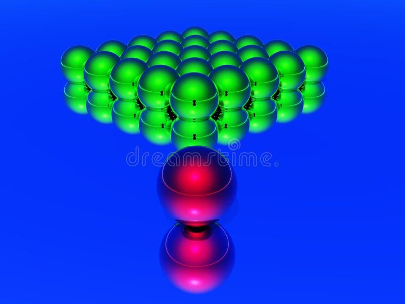 Bola del arranque de cinta 3d stock de ilustración