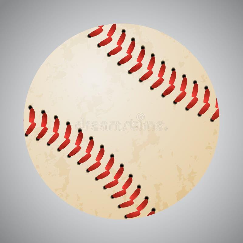 Bola del béisbol del vector en fondo gris imagen de archivo