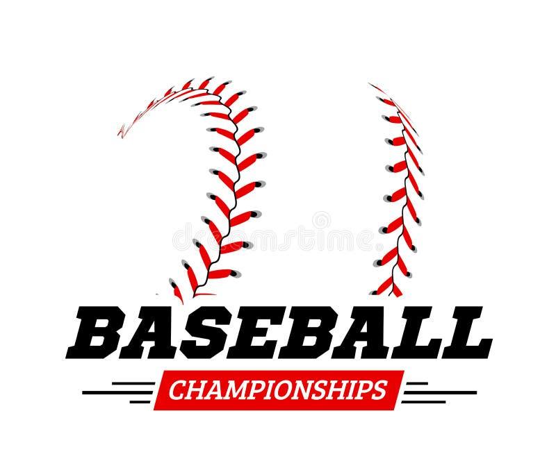 Bola del béisbol en el fondo blanco stock de ilustración
