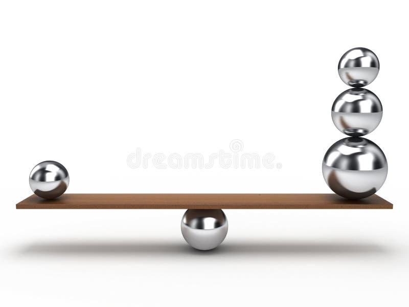 Bola del balance stock de ilustración