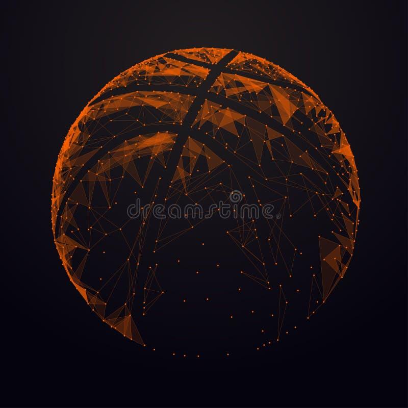 Bola del baloncesto ilustración del vector