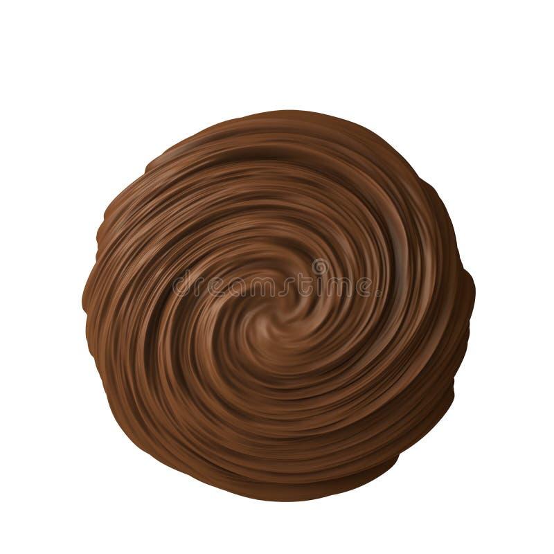 Bola del chocolate ilustración del vector
