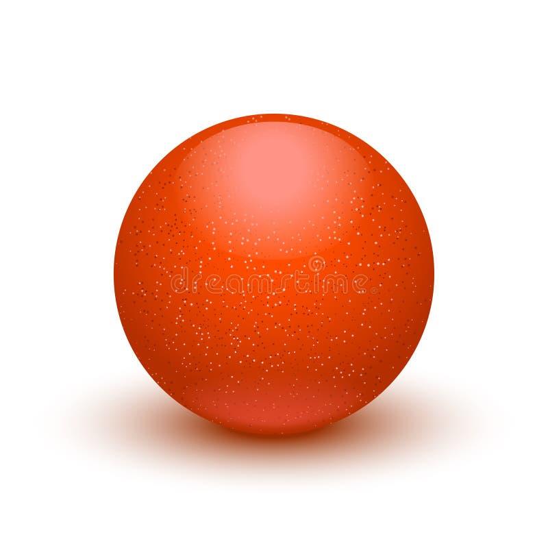 Bola del color rojo stock de ilustración